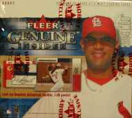2004 Fleer Genuine Insider Baseball Box