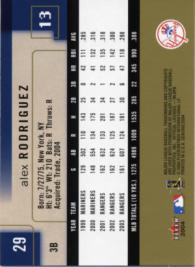 A-Rod Basic Card - Back