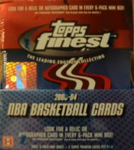 2003-04 Topps Finest Basketball Box