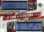 Michael Vick and Ben Roethlisberger Link to the Future Dual-Autographed Card