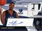 Andre Emmett Level 2 Autographed Rookie Jersey Card