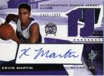 Kevin Martin Level 2 Autographed Rookie Jersey Card