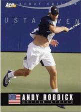2005 Ace Authentic Debut Edition Andy Roddick Card - Front Design
