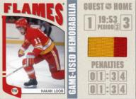 Hakan Loob Game-Used Jersey Silver Version Card