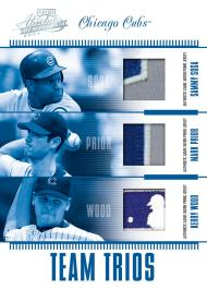 Cubs Team Trios Card