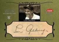Lou Gehrig Etched in Time Card