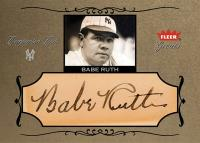 Babe Ruth Comparison Cuts Autograph Card
