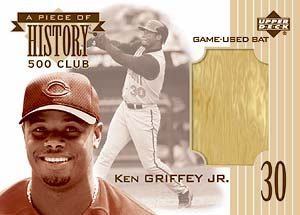 Ken Griffey, Jr. Piece of History 500 Club Card