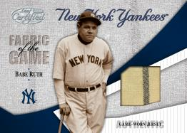 Babe Ruth Fabric of the Game Card