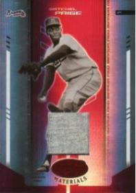 Satchel Paige 2004 Leaf Certified  	Materials Baseball Card