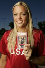 Jennie Finch with Autographed RC Card