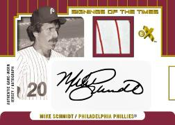 2004 Fleer E-X MLB Signings of the Times Card - Mike Schmidt
