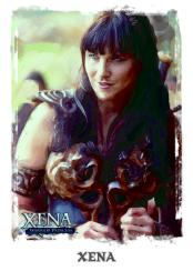 Art and Images of Xena: Warrior Princess Base Card