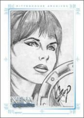 Art and Images of Xena: Warrior Princess Sketch Card