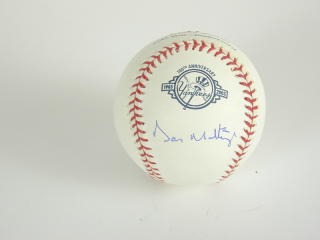 2004 Fleer Legacy MLB Autographed Baseball - Don Mattingly