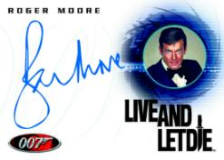 The Quotable James Bond Roger Moore Autograph Card