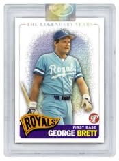 2005 Topps Pristine Baseball Legends Edition George Brett Card