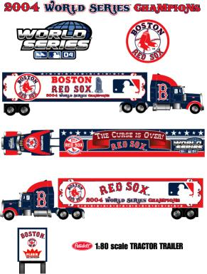 Boston Red Sox  2004 MLB World Series Championship Tractor-Trailer