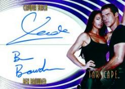 Farscape: Through The Wormhole Ben  Browder/Claudia Black Dual-Autograph Card