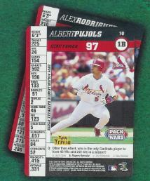 Topps  Pack Wars Albert Pujols Card