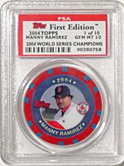 Manny Ramirez Graded Collector Chip