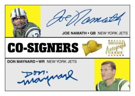Joe Namath / Don Maynard Co-Signers Card