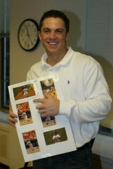 New York Mets David Wright Picking Photo for Topps Card