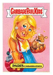 Garbage Pail Kids Series 4 - Paris Embarrassed Card