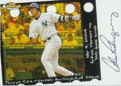 2005 Topps Finest Baseball Alex Rodriguez Autographed Card