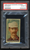 1888 N162 Goodwin Champs Tim Keefe PSA 6 Card