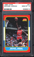 1986 Fleer Michael Jordan PSA 10 Card