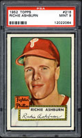 1962 Topps Richie Ashburn PSA 9 Card