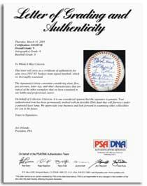 PSA Letter of Authenticity