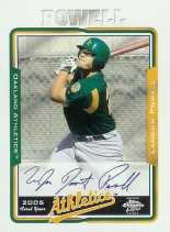 2005 Topps Chrome Baseball Series 2 - Landon Powell Autographed Rookie Card