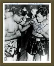 Posed Photo of Braddock and Louis, Signed by  Braddock