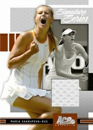 ACE Authentic Maria  Sharapova Game-Worn card