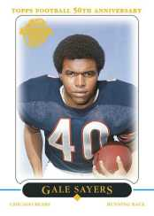 Topps 50th Anniversary Chicago Bears Gale Sayers Card