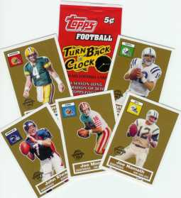 "Topps 50th Anniversary Football ""Turn Back the Clock"" 5� Pack"