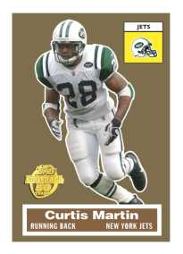 "Topps 50th Anniversary Football ""Turn Back the Clock"" Curtis Martin Card"