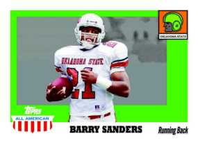 2005 Topps All American Football Barry Sanders Card
