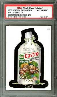 2005 Topps Wacky Packages Signature Series Card - Castro Oil
