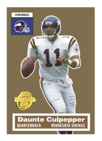 "Topps 50th Anniversary Football ""Turn Back the Clock"" Daunte Culpepper Card"