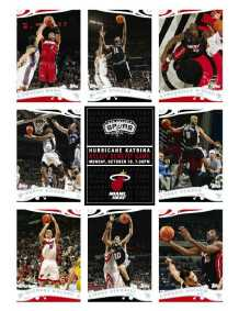 Topps Hurricane Katrina Relief Game Trading Card Sheet