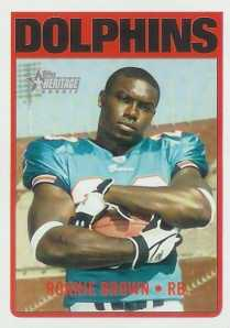 2005 Topps Heritage Ronnie Brown Rookie Card