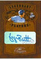 2005 Donruss Classics Legendary Players Platinum George Brett Autographed Card 1/1